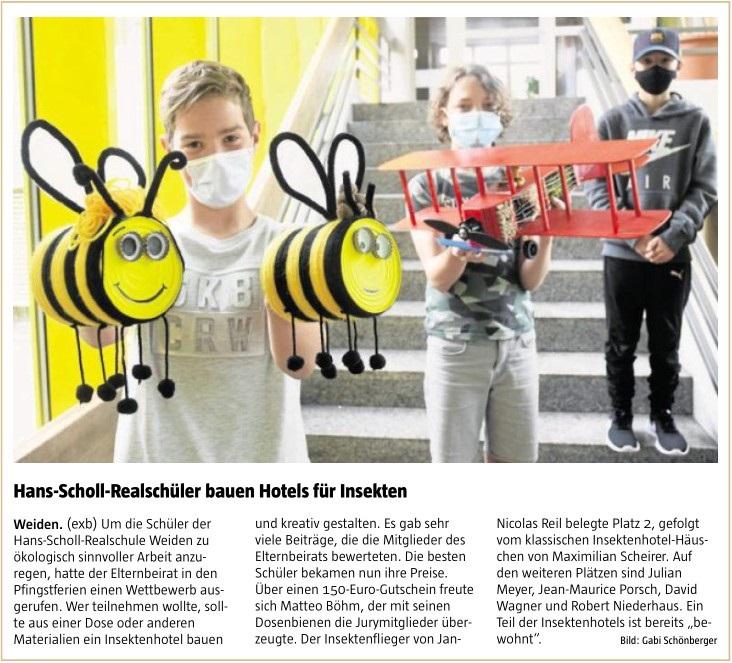 2021-07-07_Weiden_HansSchollRealschueler_bauen_Hotels_fuer_Insekten